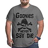 Goonies Never Say Die Camiseta para Hombre Tallas Grandes Xl-6xl Camiseta de Manga Corta Camisetas Deportivas de algodón con Cuello Redondo