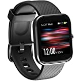 Smart Watch, Virmee VT3 Fitness Activity Tracker with Heart Rate Monitor Blood Oxygen Meter Sleep Step Tracking, IP68 Waterproof, for Men Women, Compatible with iPhone Samsung Android Phones