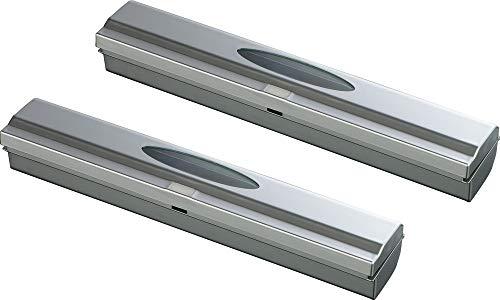 WENKO Folienschneider Perfect Cutter L Silber, 2er Set