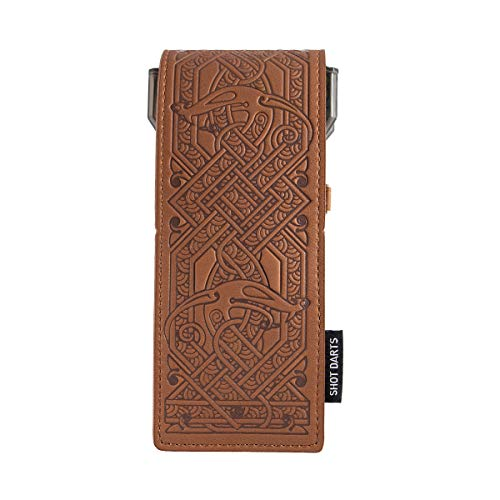 Shot! Insignia Brown Leder Dartcase
