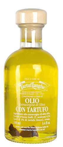 Tartuflanghe - extra natives Olivenöl mit schwarzem Trüffel (Tuber aestivum Vitt.) In Scheiben 100ml