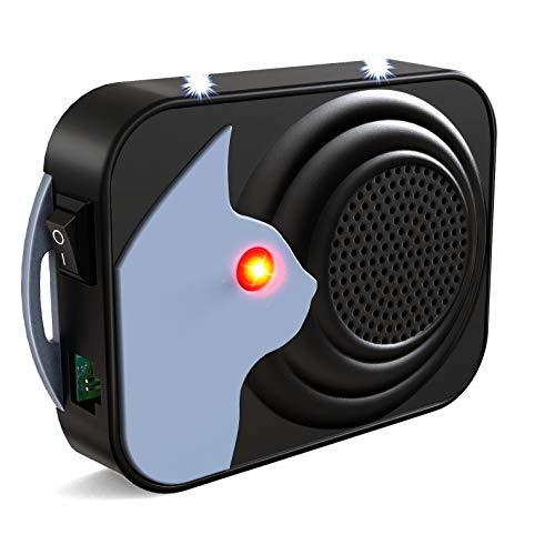 ulocool Marderschreck Auto, Marderabwehr Ultraschall Marderschutz mit 3 LED Blinklicht, Tiervertreiber für Lagerhaus Motorraum 12V