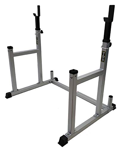 TDS Multi-Function Squat Rack with Adjustable uprights Used as Barbell Rack, Bench Press, Squat, Dumbbell Rack. Heavy Non-Slippery Foot Pads to Increase Safety.