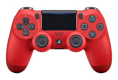 PS4 PRO Rapid Fire Custom MODDED Controller Exclusive Unique Designs - CUH-ZCT2U (Multiple Designs Available) (Magma Red)