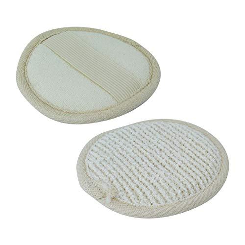 Vivezen ® Disque exfoliant pour le visage en fibre de bambou 10 cm avec poignée de maintien - Norme CE