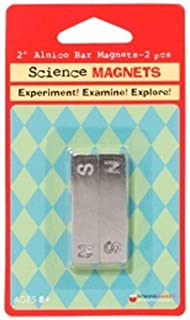 4 Pack DOWLING MAGNETS MAGNET ALNICO BAR 2 INCH 2-PK