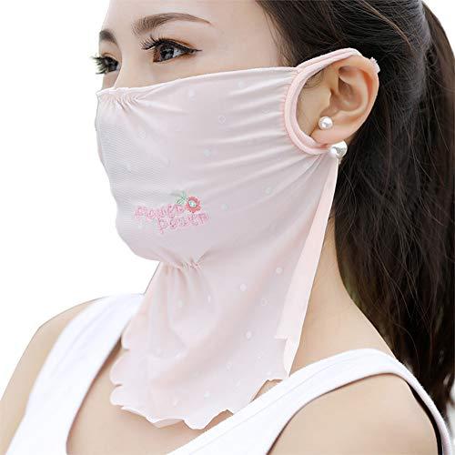 Bodhi2000 Leichte Sommerwind UV Sonnenschutz Schal Bandana Hals Gesichtsschutz Für Outdoor-Wanderungen Radfahren Pink Dot