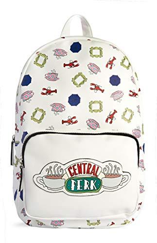 Friends Central Perk Backpack Rucksack White School Bag