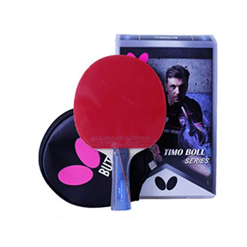 Lowest Prices! HUIJUNWENTI Table Tennis Racket, Genuine Double-Sided Anti-Adhesive Racket, Professio...