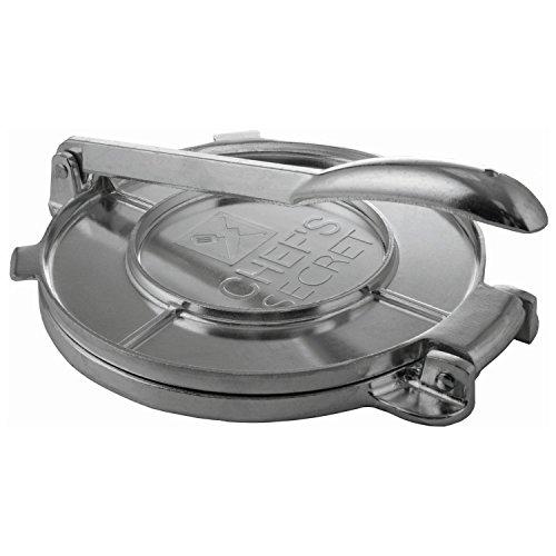 Chef's Secret 8 Inch Tortilla Aluminium Press, Durable Tortilla Quickly Easily Makes Delicious Tortillas for Any Recipe