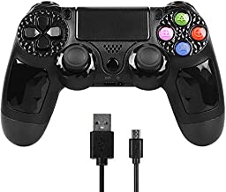 Controller for PS4, PowerLead Wireless Gaming Controller Six-axis Dual Vibration Gamepad for Playstation 4/Playstation 3/PC with Led Touch Pad and Audio Jack