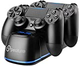 PS4 Controller Charger, Peoture PS4 Controller Charging Station with LED Light Indicator f...