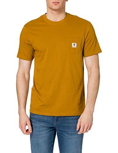 Element Basic Pocket Label Camiseta de Manga Corta para Hombre, Gold Brown, M