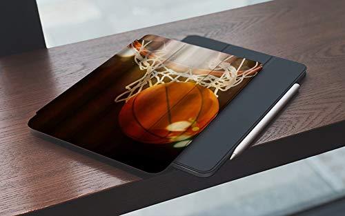 MEMETARO Funda para iPad 10.2 Pulgadas,2019/2020 Modelo, 7ª / 8ª generación,Divertido Tema de Baloncesto Iluminado por el Sol, Smart Leather Stand Cover with Auto Wake/Sleep