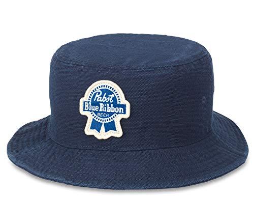 Pabst Blue Ribbon Pbr Bier Forrester Navy Blue Bucket Hat L/Xl
