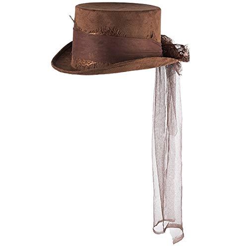 Marco Porta Sombrero de estilo steampunk para mujer, color marrn, accesorio para disfraz, cosplay