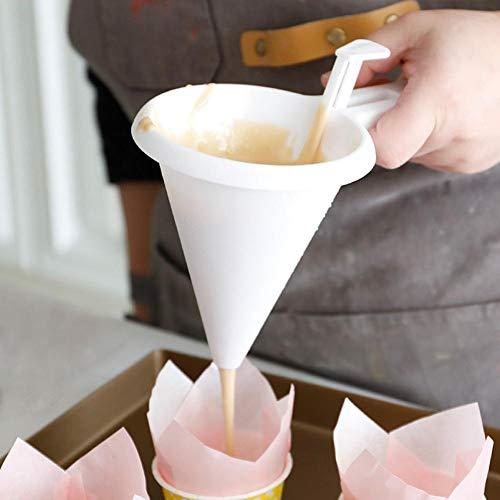 Doe-het-zelf handige chocolade snoep vleermuis trechter schimmel wit voedsel kwaliteit kunststof keuken & thuis pannenkoek muffin crème dispenser