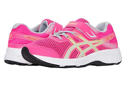 ASICS Contend 6 PS Zapatillas de correr para niños, (Rosa Glo/Gris Piamonte), 27.5 EU