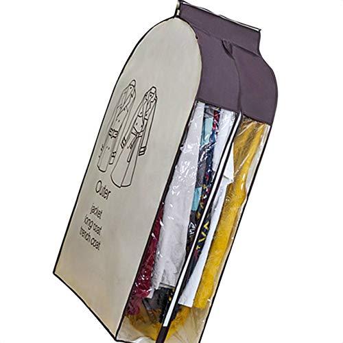 Kongnijiwa Prenda colgada Ropa a Prueba de Polvo Bolsa Vestidos de Traje de la Capa del Juego Armario Organizador de la Cremallera Ropa Cubierta de Polvo