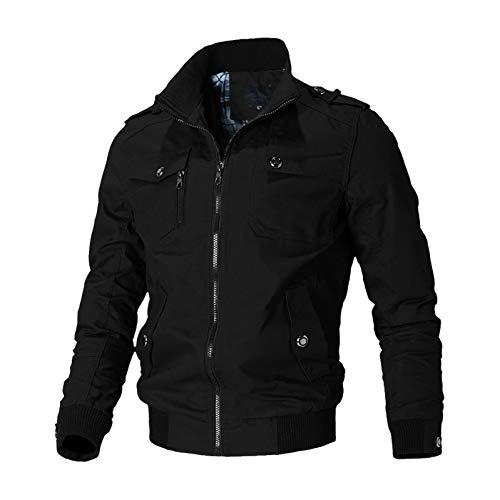 SHANGYI Jas van hoge kwaliteit bomberjack heren ritssluiting windjack katoen herfst vrijetijdsjas herenjas en jas