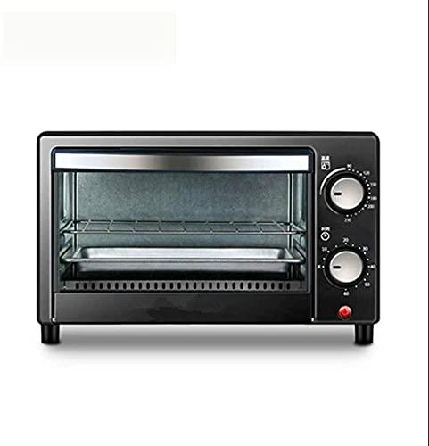 Mini horno |12 Lliters | Horno de tostadora |Horno eléctrico |Horno pequeño |Puerta de doble vidrio |Bandeja de migas removibles |Iluminación interior |Recirculación 3D |800w Freidora de aire