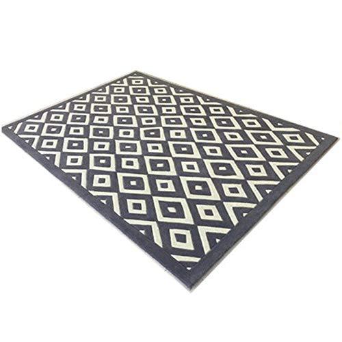 SWNN Carpet Bettgeometrie Handgemachte Acryl-Teppich Schlafzimmer Bettvorleger Sofa Minimalistisch Modernen Wohnzimmer Couchtisch Aus Acryl Teppichmatten Bettvorleger (Size : 1.6 * 2.3m)