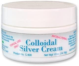 Colloidal Silver Cream, Antibiotic Moisturizing Cream, 1/2 oz