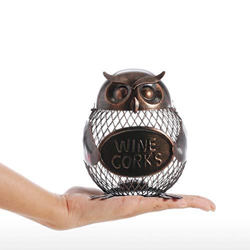 WEN Spardose Eule geformte Piggy Bank Metall-Münzen-Bank-Box-Handarbeit Crafting for Geschenke
