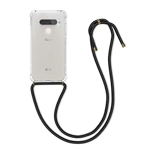 kwmobile Schutzhülle kompatibel mit LG G8s ThinQ - Hülle mit Kordel zum Umhängen - Silikon Handy Hülle Transparent
