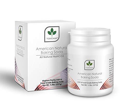 American Natural Baking Soda - TODICAMP® - Natural Sodium Bicarbonate Powder 8oz