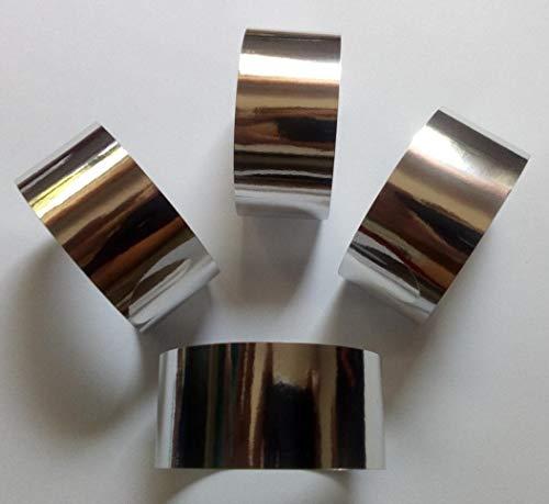 saxxdeluxe 20 Silber Farben Servietten-Ringe aus metallisch glänzendem Papier