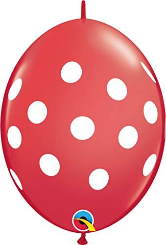 Pioneer Ballon 50 Count Quick Link Big Polka Dots Latex-Ballons 12