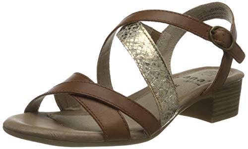 Jana Softline Damen 8-8-28256-26 396 Sandale mit Absatz, Braun, 39 EU