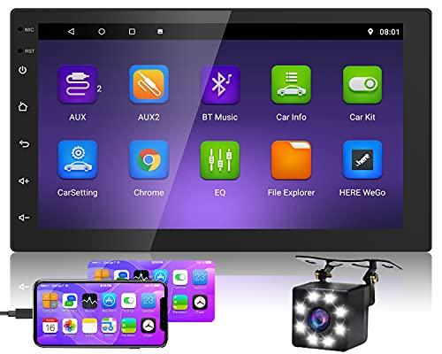 Hikity Android 2 DIN Radio de Coche GPS Navegación...