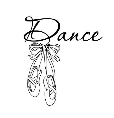 Art Design Dans Muren Ballet Schoenen Ballerina Gym Meisjes Slaapkamer Woondecoratie PVC Lijm Muurstickers voor Kwekerij 58X66Cm