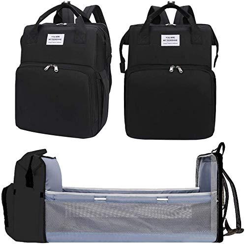 Craftsboys - Bolsa de pañales portátil para bebé, mochila multifuncional, plegable, ligera,...