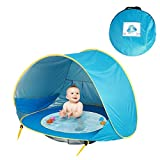 JIUYUE Tienda de Playa Baby Beach Tent UV-protección Sunshelter niños pequeños Juguetes Casa Impermeable Pop Up Toldo Carpa portátil Ball Pool Kids Tiendas de campaña Tienda Pop Up (Color : 1)