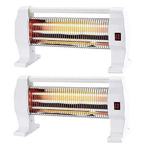 Suinga 2 x Heizstrahler Quarz, 1200 W, 3 Röhren und 3 Temperaturstufen. Schutzsystem bei versehentlichem Umkippen des Ofens Tragegriff
