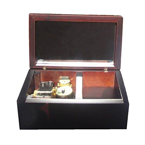 FnLy 18 Notas Caja Musical de Madera con Movimiento Chapado en Oro, Caja de música de tamaño pequeño, Caja de música de Regalo, Caja Musical con Tema de la Bella y la Bestia