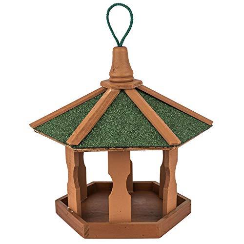 Vogelhaus aus Holz zum aufhängen ca. 44x44x36cm |Vogelhäuschen für Vogelfutter - Futterhaus Vogelfutterstation - Schutz gegen Schnee & Regen | Futterstation, Futterstelle, Vogelfutterhaus