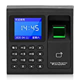 Time Attendance Machine, 125khz ID Card+Fingerprint+Password Intelligent Biometric Employee Checking-in Machine, 1.8In HD LCD Screen, for Office Use