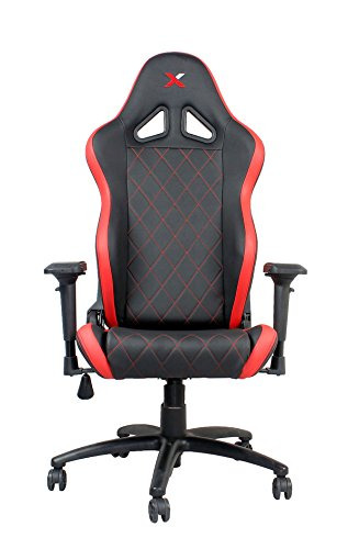 Ferrino Line Red on Black Diamond Patterned Gaming and Lifestyle Chair by RapidX black chair gaming
