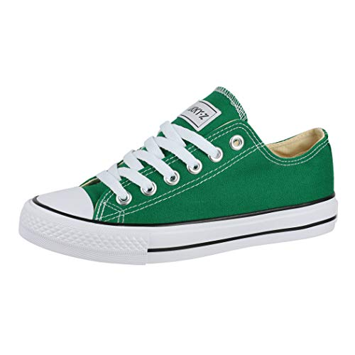 Elara Unisex Sneaker Low top Turnschuh Textil Chunkyrayan 01-A-CA01-Green-38