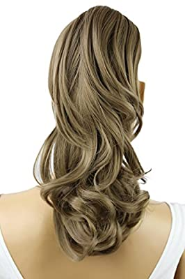 """PRETTYSHOP 14"""" Hair Piece Pony Tail Clip On Extension Voluminous Curly Heat-Resisting"""
