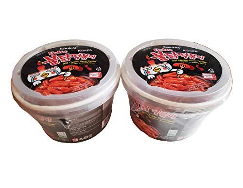 Buldak Tteokbokki Korean Rice Cake Instant Korean Snack Tteok Tteokbokki Rice Cake 떡볶이 (Spicy)
