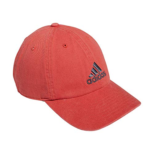 adidas Men's Ultimate Relaxed Adjustable Cotton Cap, Crew Red/Onix, One Size