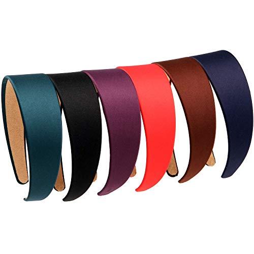 LONEEDY 6 feststirnbänder 1 6 zoll 4 cm breite anti-rutsch-band haarband für frauen gemischte farbe