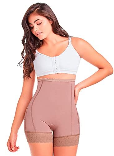 Shapewear from Fajas Diseño D´Prada 11197 Women´s High- Waist Control Panty Body Shaper (Mocca, XL)