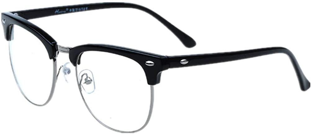 Shiratori New Vintage Fashion Half Frame Semi-Rimless Clear Lens Glasses