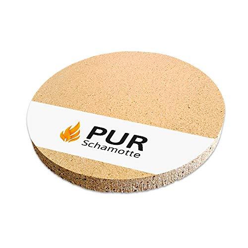PUR Schamotte ® Pizzastein Brotbackstein Rund Backofen Grill 34 cm x 3 cm